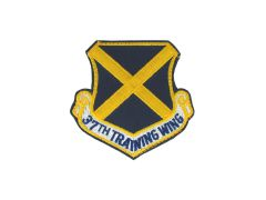 AIR FORCE PATCH, 37TH TRAINING WING, REGULAR W/VELCRO